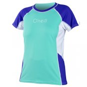 O'Neill Womens Colour Block S/S Rash Tee (Spyglass