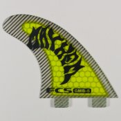 FCS Matt Biolos GMB-5 PC Thruster Fin Set (Lime)