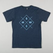 MSW Cross Logo T-shirt (Navy Marl)
