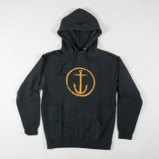 Captain Fin Co Original Anchor Hooded Sweat (Charc