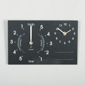Ashortwalk Recycled Time & Tide Chalk Clock (Black